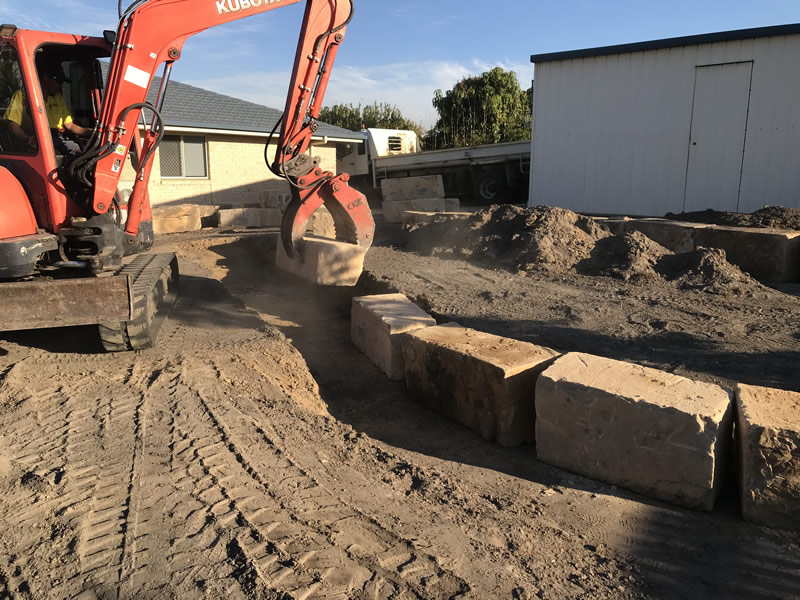 block excavation landscaping