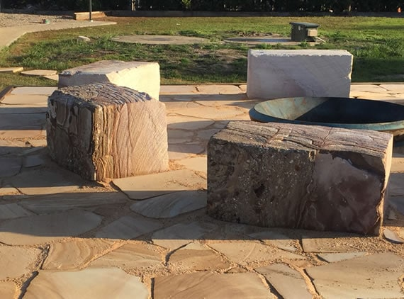 Feature Brisbane Fire Pit Construction