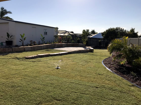 landscape gardening project North Brisbane