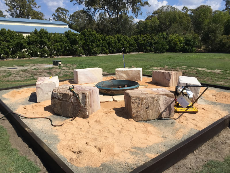 Firepit Sandstone Seating