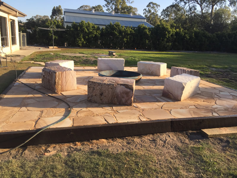 construction of fire pit north brisbane