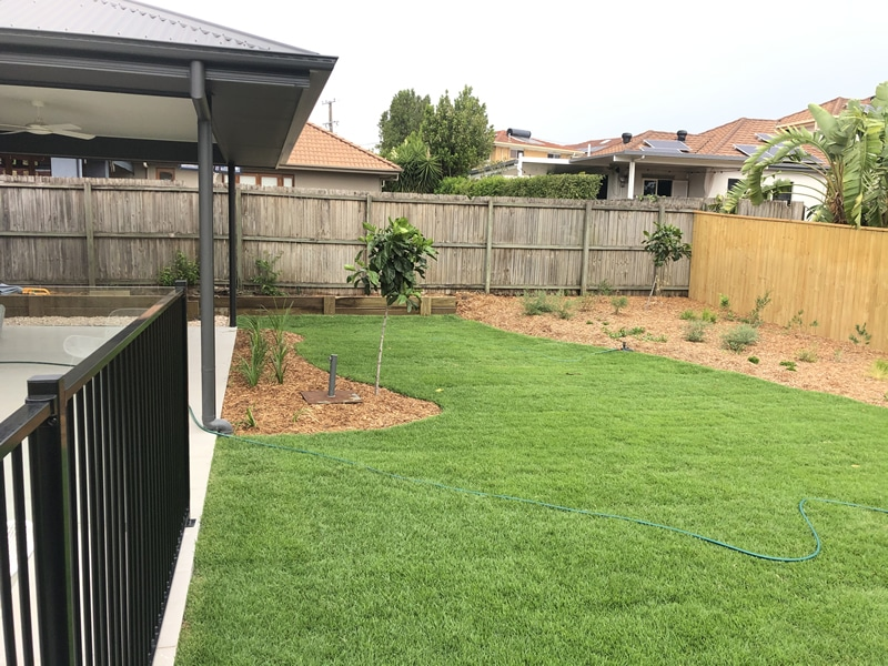 laying turf and landscaping North Brisbane