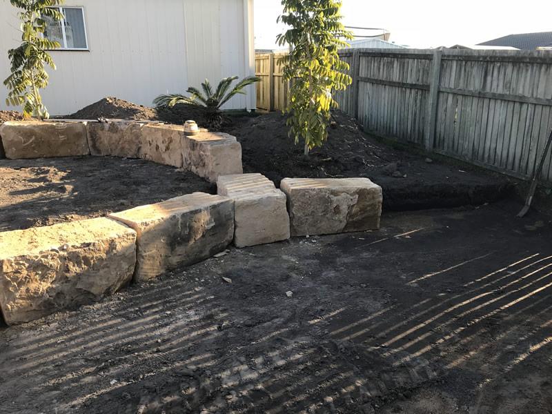 sandstone walls landscaping service