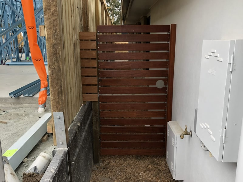 Custom built timber side gate Caboolture