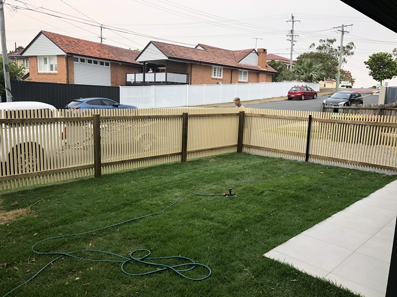new Wooden batten fence